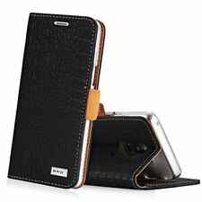 Galaxy S9+ PLUS Case Wallet Leather Kickstand Card Slots Magnetic Closure Black