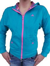 Adidas Women's Jacket Jumper Hoody Training Turquoise Pink Jumper 34 36 38 40