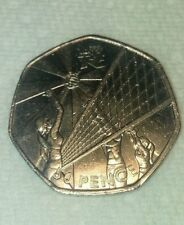 2011 2012  50p 50 Pence Piece Coin UK Olympics Volleyball RECORDED DELIVERY