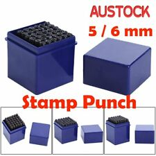 Letter & Number 36pc Stamp Punch Set Steel Metal Leather Craft Tool NS
