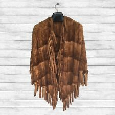 Furs2Love™ 1752 Golden Whiskey Dyed, Semi-Sheared Mink Poncho