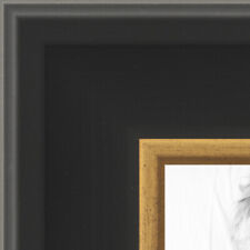 ArtToFrames 2 Inch Black with Gold Wide Picture Poster Frame -N9590