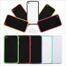 TPU Silicone Frame Bumper Hard Case Cover Skin for iPhone 4G 4S#luso