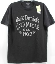 NWT Lucky Brand Jack Daniels Old No. 7 Gold Medal Whiskey Black T-Shirt Tee