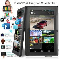 """7"""" Android Tablet 8GB Quad Core Dual Camera Bluetooth Touch Screen Tablet LOT @A"""