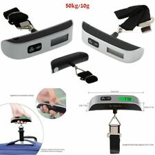 50kg/10g Portable LCD Digital Hanging Luggage Scale Travel Electronic Weights AW