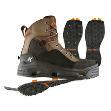 Korkers Buckskin Wading Boot w/ Kling-On & Studded Kling-On Outsoles - All Sizes
