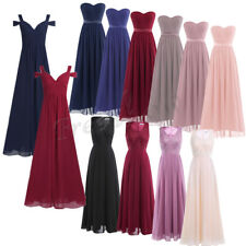 Women Formal Long Chiffon Bridesmaid Evening Ball Prom Gown Party Cocktail Dress