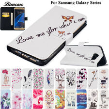 Flower Leather Case For Samsung Galaxy S6 S7 Edge S8 Plus S5 Mini G870 G9350