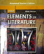 Holt Elements of Literature Teacher/Student Resources-Pick the one you want