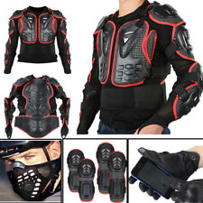 Motorcycle Racing Full Body/Knee Armor Spine Chest Protective Jacket AU HE7