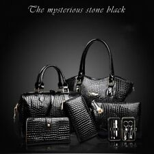 6PCS/SET Elegant Women Composite Bag Fashionable Female Single Shoulder Bag PN