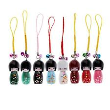 Creative Wooden Pendant Mini Japanese Doll Model Pendant for Bag Phone Decor