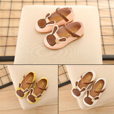 Girls Kids Toddler Soft Sweet PU Shoes Casual Flats Peas Shoes Rabbit Loafers