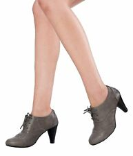 Dora01 Womens Pump Booties Comfort Oxfords Heels Shoes Lace Up Ankle Boots