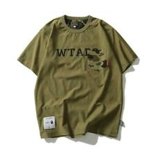 HOT Men's Bape Green Camouflage A bathing ape Both sides to wear short sleeve