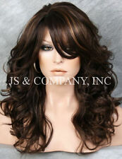 WOW So Lovely Long Wavy Curly Brown Strawberry Blonde mix Wig WBBL 4-27