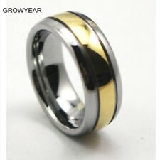 Rings Gold Silver Two Tone For Men  size: 8 9 11 12 13 14
