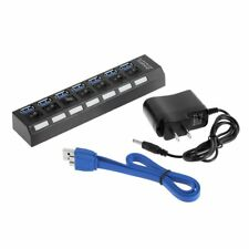High Speed 4 Port USB 2.0 External Multi Expansion Hub with ON / OFF Switch AQ