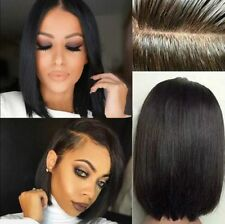 Silk Top Lace Front Human Hair Wigs Brazilian Remy Human Hair Straight Wigs 14""