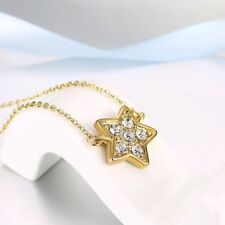 Trendy Star Shape Pendant Necklace Fashionable Jewelry Rhinestone Necklace MU
