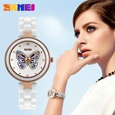 Women Wrist Watch Butterfly Hollow Out Ceramic Strap Quartz Wrist Watches TW