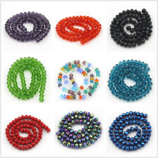4x6mm 5x8mm 6x10mm Crystal Glass Faceted Rondelle Spacer Jewelry Making Beads