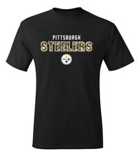 Pittsburgh Steelers NFL Men's Black Graphic Short Sleeve T-Shirts Tee: S-2XL