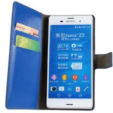 New Premium Textured Leather Wallet Stand Case for Sony Xperia Z3