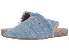 New In Box Womens Lucky Brand BAPSEE Light Denim Fabric Mule Flats Shoes