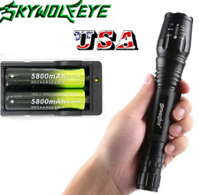 Zoomable Lamp T6 20000Lumen LED Flashlight Torch Light Lamp+Charger+2x18650 US!
