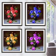 5D Rose Vase Diamond Painting Mosaic Embroidery DIY Craft Cross Stitch CLSV