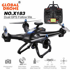 Global Drone 6-axes X183 With 2MP WiFi FPV HD Camera GPS Brushless Quadcopter US