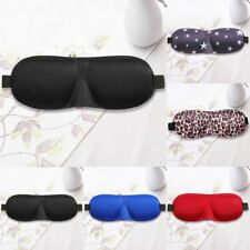 Soft 3D Eye Aid Mask Travel Sleep Rest Eye Shade Cover Shade Blindfold Unisex HT