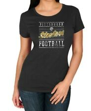 Pittsburgh Steelers NFL Women's Black Shiny Short Sleeve Tee T-shirts: S-XL