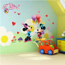 mickey mouse minnie wall stickers for kids room decoration diy animals mural