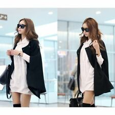 Winter Women Warm Batwing Cloak Cape Coat Loose Poncho Jacket Outerwear Tops PE