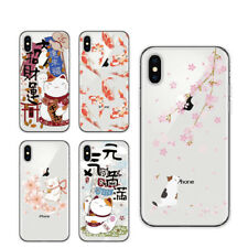 Koi Fish Lucky Cat Japanese Soft Case Cover Samsung Galaxy S7 Edge S8 S9 Plus