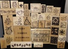 Christmas Themed Single Rubber Stamps Candycane Trees Angels Snowflakes You Pick