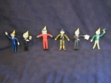 """Vintage Jack In The Box Restaurants 4"""" Bendable PVC Toy Figures - Lot of 6 Set A"""