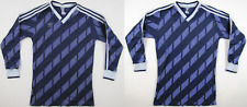 Adidas 1980s shirt 80er purple football made in West Germany vintage 3/4 Small S