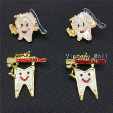 Dental clinic gift Metal Tooth Type Shape Molar Brooch Cartoon High Quality