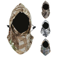 Unisex Camo Full Face Mask Fleece Cap Balaclava Neck Warmer Hood Winter Ski