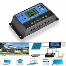 12V/24V Solar Panel Charger Controller Battery Regulator USB LCD Controller