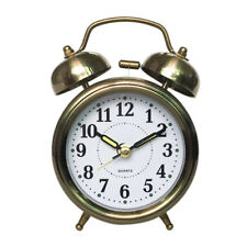 Vintage Retro Style Twin Bell Alarm Clock Battery Operated Loud Alarm Clock