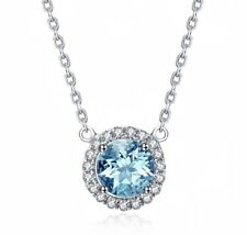 Lady Crystal Pendant Necklace Fashion Wedding Chain 18K Rose Gold GP Necklace