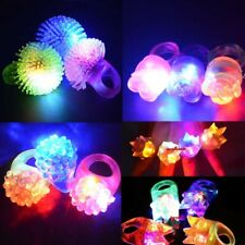Lot 30pcs Party LED Flashing Light Rings Light Up Glow Jelly Finger Rings