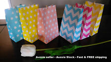 Paper Chevron Dotted Party loot lolly bag wedding gift bag baby shower