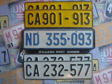 1 South Africa license plate ginue real authentic cape Town Kap Horn Pretoria