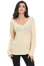 New Women Sweater Knit Top Pullover Scoop Neck Long Sleeve Casual Fashion Autumn